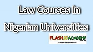 Law courses in Nigerian universities