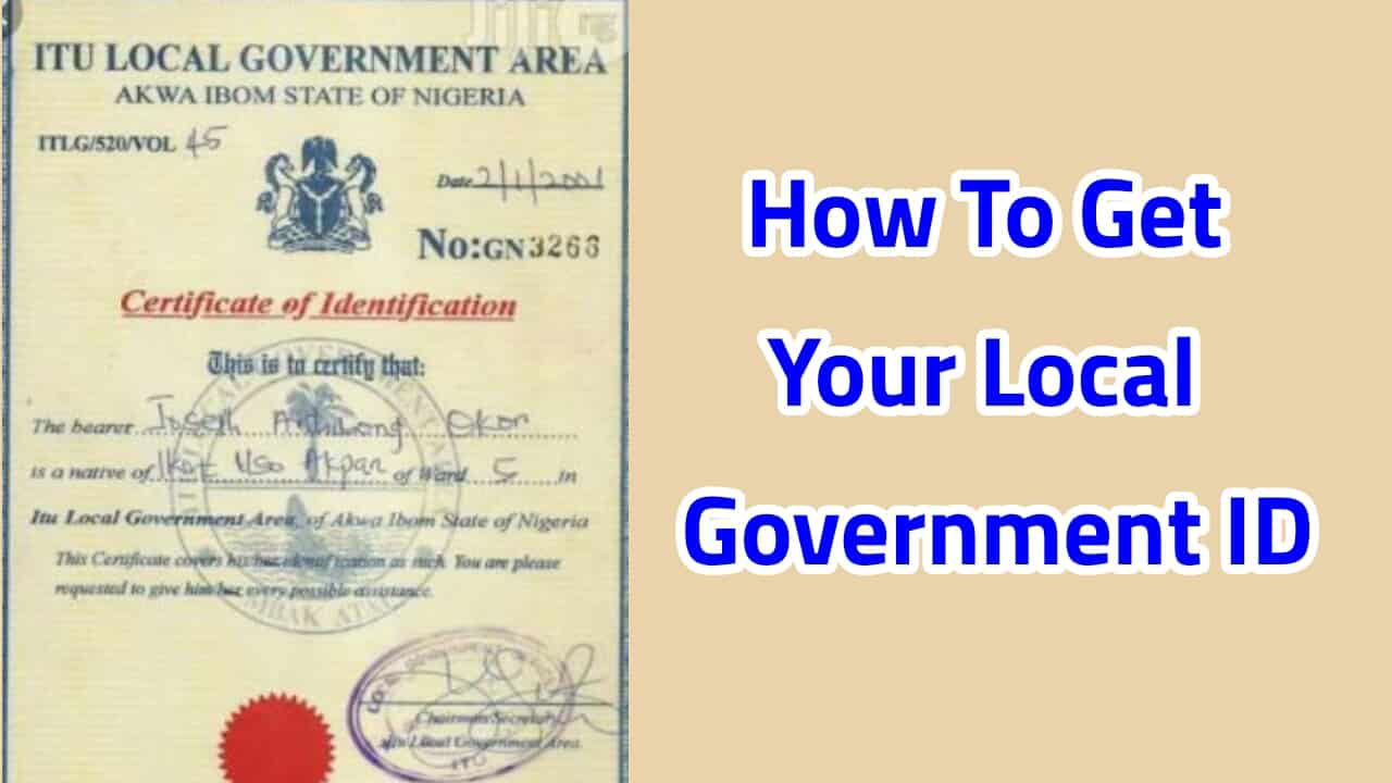 how to get local government identification (ID) identification certificate