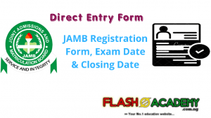 Jamb 2020/2021 Direct Entry Registration Form